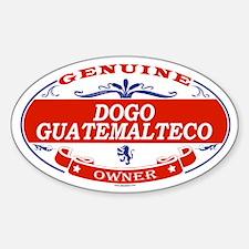 DOGO GUATEMALTECO Oval Decal