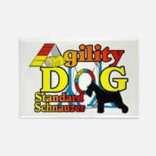 Schnauzer Agility Rectangle Magnet (10 pack)