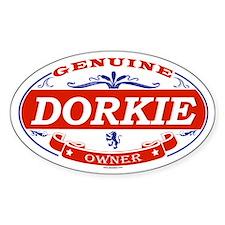 DORKIE Oval Decal