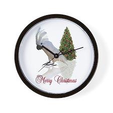 cockatoo christmas Wall Clock