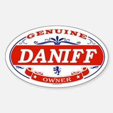 DANIFF Oval Decal