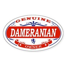 DAMERANIAN Oval Decal