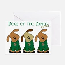 Dogs Of The Dance Greeting Card