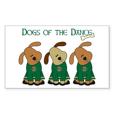 Dogs Of The Dance Rectangle Sticker