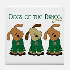 Dogs Of The Dance Tile Coaster