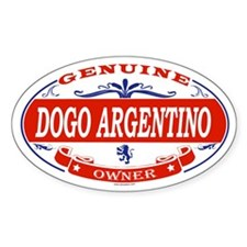 DOGO ARGENTINO Oval Decal