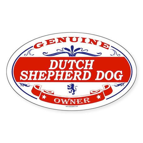 DUTCH SHEPHERD DOG Oval Sticker