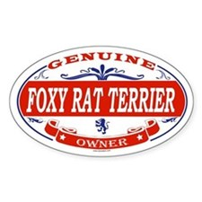 FOXY RAT TERRIER Oval Decal