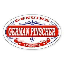 GERMAN PINSCHER Oval Decal