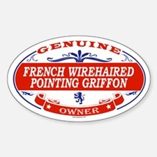 FRENCH WIREHAIRED POINTING GRIFFON Oval Decal