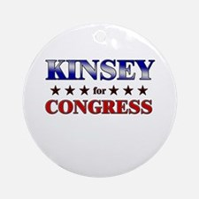 KINSEY for congress Ornament (Round)