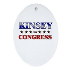 KINSEY for congress Oval Ornament