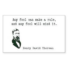 Thoreau Rectangle Decal