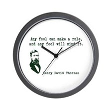 Thoreau Wall Clock