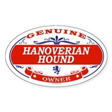 HANOVERIAN HOUND Oval Decal