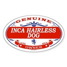 INCA HAIRLESS DOG Oval Decal