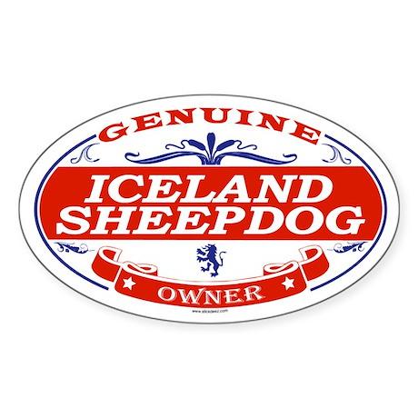 ICELAND SHEEPDOG Oval Sticker