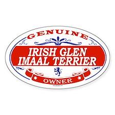IRISH GLEN IMAAL TERRIER Oval Decal
