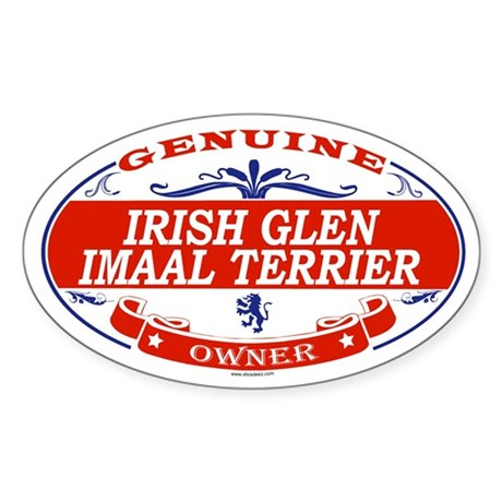 IRISH GLEN IMAAL TERRIER Oval Sticker