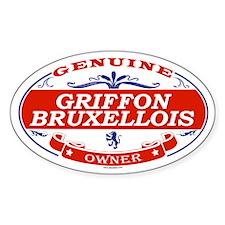 GRIFFON BRUXELLOIS Oval Decal