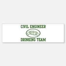 Civil Engineer Drinking Team Bumper Bumper Bumper Sticker