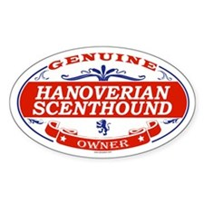 HANOVERIAN SCENTHOUND Oval Decal