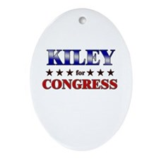 KILEY for congress Oval Ornament