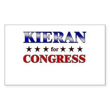 KIERAN for congress Rectangle Decal