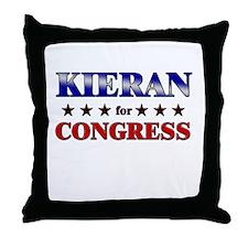 KIERAN for congress Throw Pillow