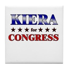 KIERA for congress Tile Coaster