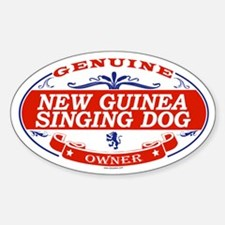 NEW GUINEA SINGING DOG Oval Decal