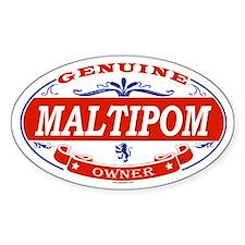 MALTIPOM Oval Bumper Stickers