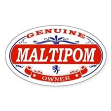 MALTIPOM Oval Stickers