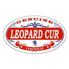 LEOPARD CUR Oval Decal