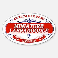 MINIATURE LABRADOODLE Oval Stickers