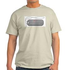 Dogtag- Bichon Frise Ash Grey T-Shirt