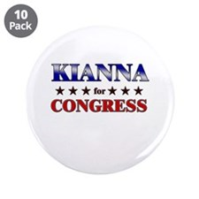 "KIANNA for congress 3.5"" Button (10 pack)"