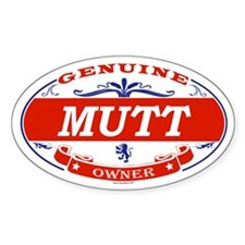 MUTT Oval Decal