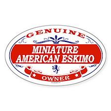 MINIATURE AMERICAN ESKIMO Oval Decal
