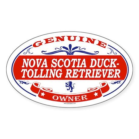 NOVA SCOTIA DUCK-TOLLING RETRIEVER Oval Sticker