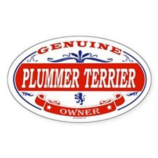 PLUMMER TERRIER Oval Decal