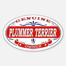 PLUMMER TERRIER Oval Decal