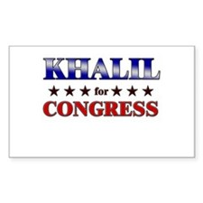 KHALIL for congress Rectangle Decal