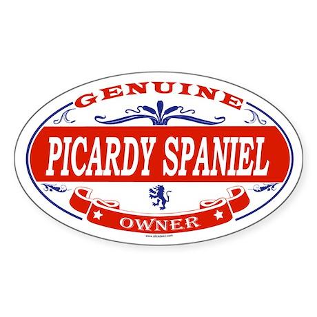 PICARDY SPANIEL Oval Sticker