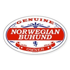 NORWEGIAN BUHUND Oval Decal