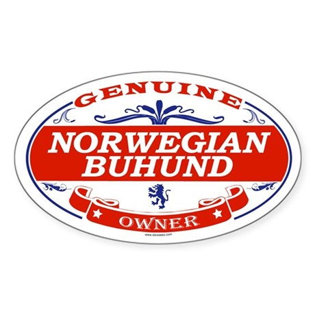 NORWEGIAN BUHUND Oval Sticker