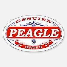 PEAGLE Oval Decal