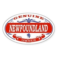 NEWFOUNDLAND Oval Decal