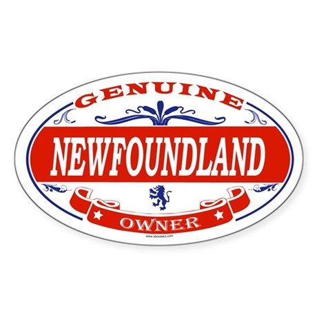 NEWFOUNDLAND Oval Sticker