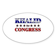 KHALID for congress Oval Decal